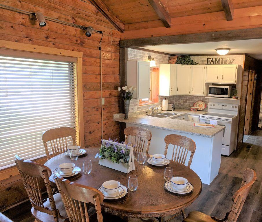 Cabin kitchen dining area